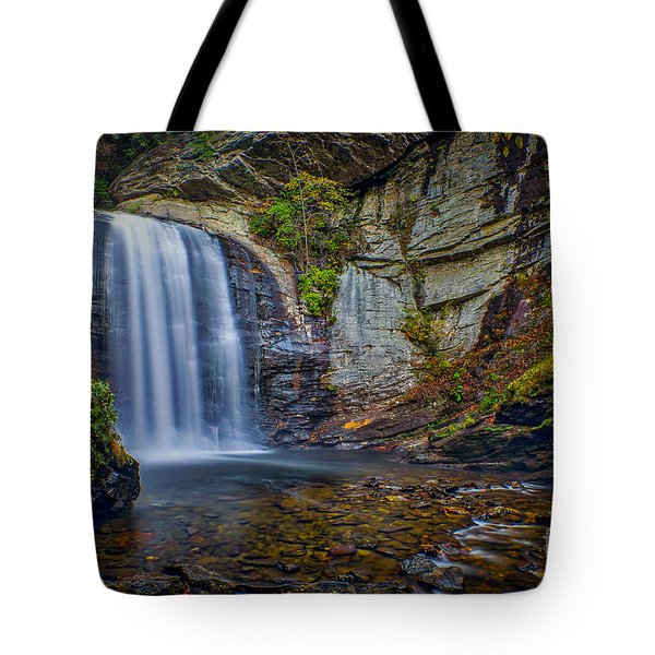 Looking Glass Falls In The Blue Ridge Mountains Brevard North Carolina Tote Bag