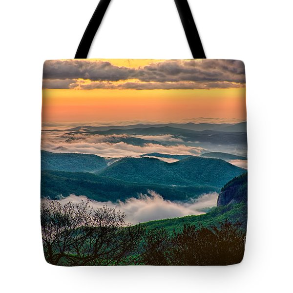 Looking Glass In The Blue Ridge At Sunrise Tote Bag