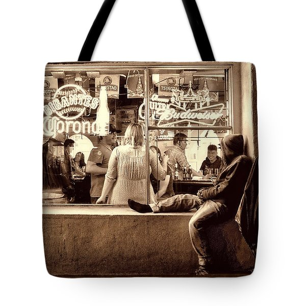 Tote Bag featuring the photograph Looking In by Steve Siri