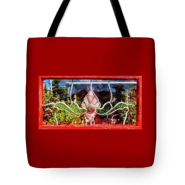 Tote Bag featuring the photograph Looking Into The Garden by Thom Zehrfeld