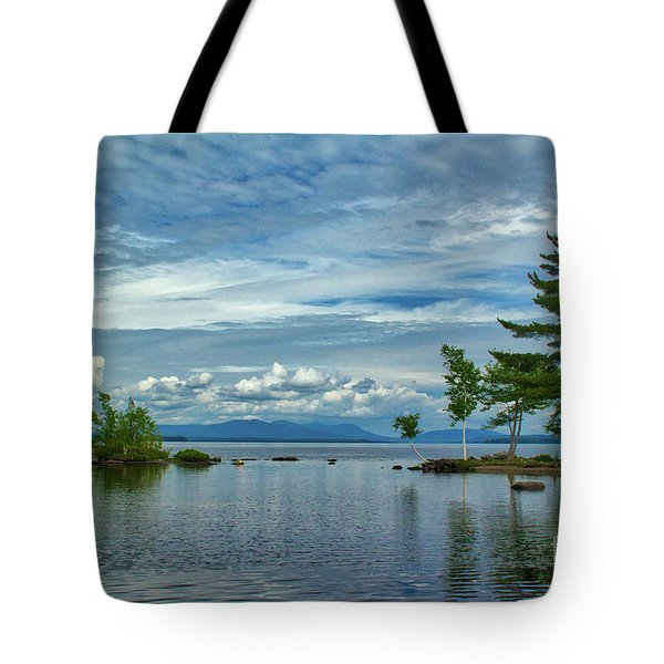 Looking North From Kineo Dock Tote Bag