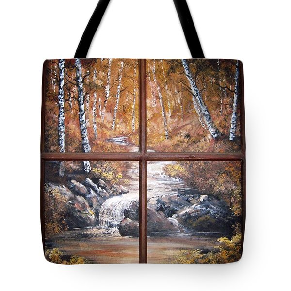 Looking Out Tote Bag by Megan Walsh