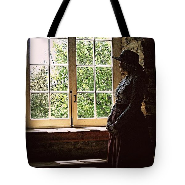 Looking Out Of The Window Tote Bag