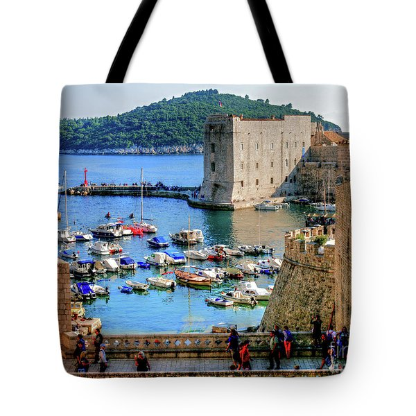 Looking Out Onto Dubrovnik Harbour Tote Bag
