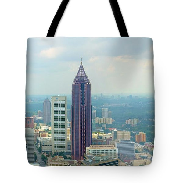 Tote Bag featuring the photograph Looking Out Over Atlanta by Mike McGlothlen