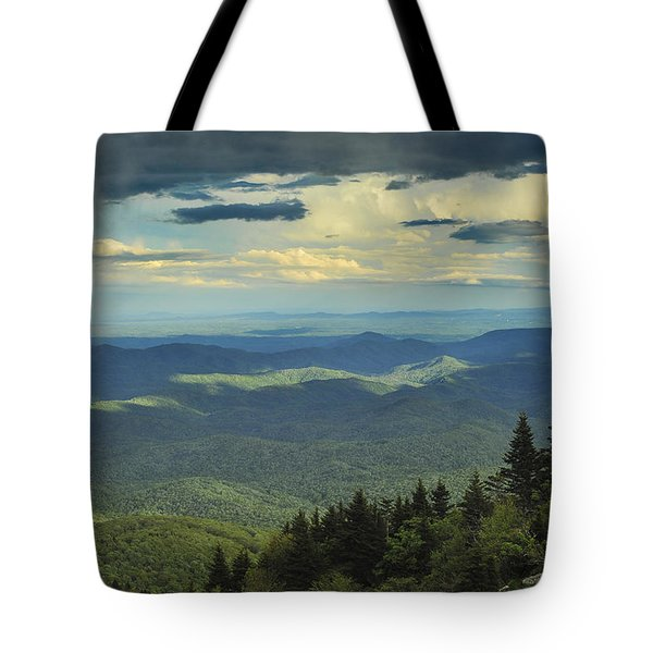 Looking Over The Valley Tote Bag