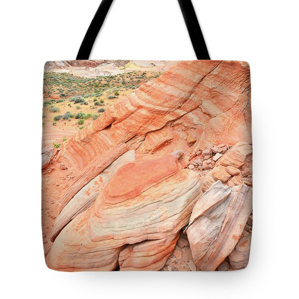 Tote Bag featuring the photograph Looking South In Valley Of Fire by Ray Mathis