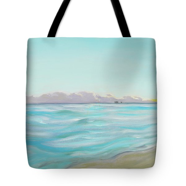 Looking South Tryptic Part 2 Tote Bag