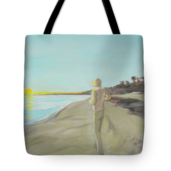Looking South Tryptic Part 3 Tote Bag