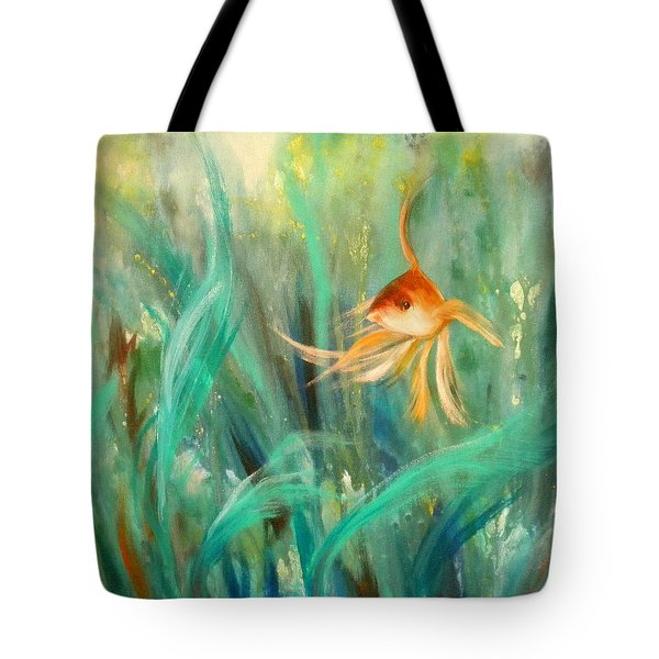 Looking - Square Painting Tote Bag
