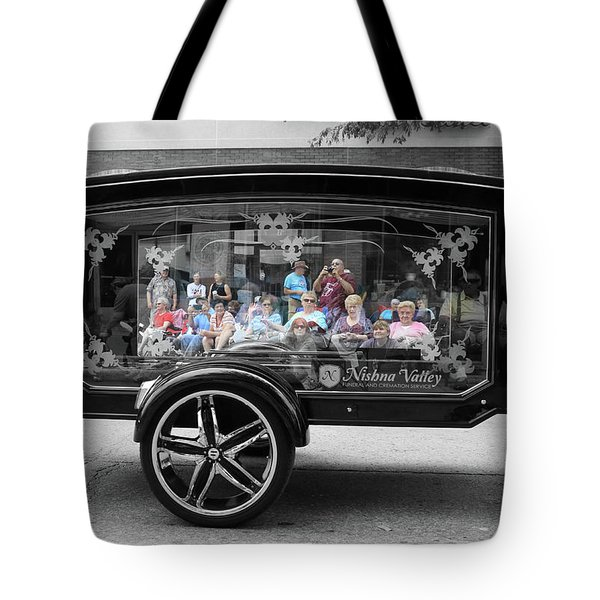 Looking Through The Glass Carriage Tote Bag