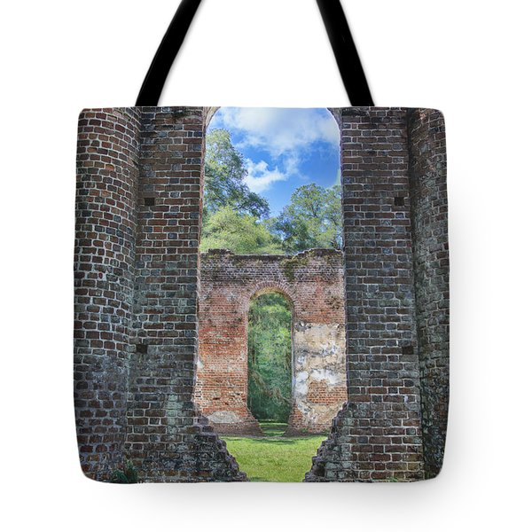 Looking Through The Old Sheldon Church Tote Bag