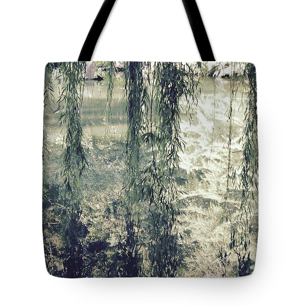 Looking Through The Willow Branches Tote Bag by Linda Geiger