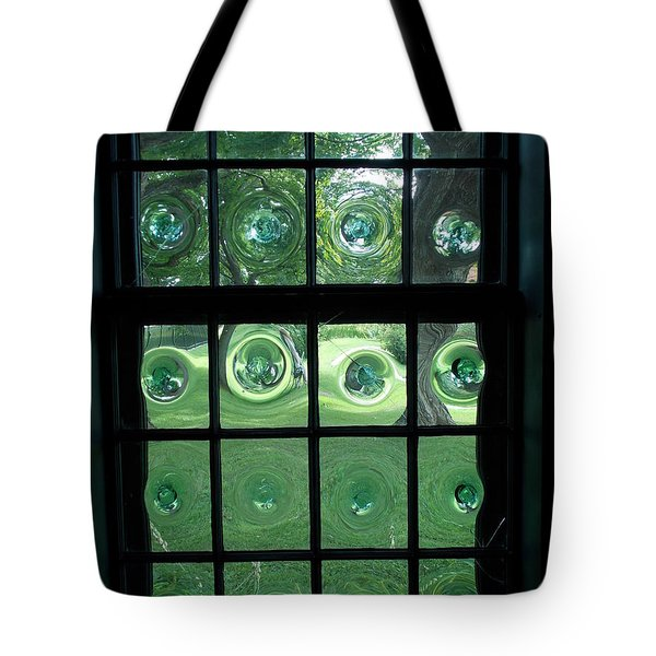 Looking Thru Bubble Glass Window Tote Bag