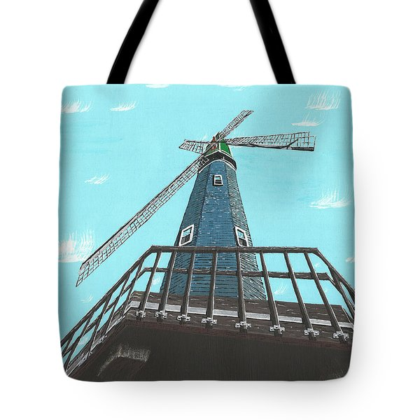Looking Up At A Windmill Tote Bag
