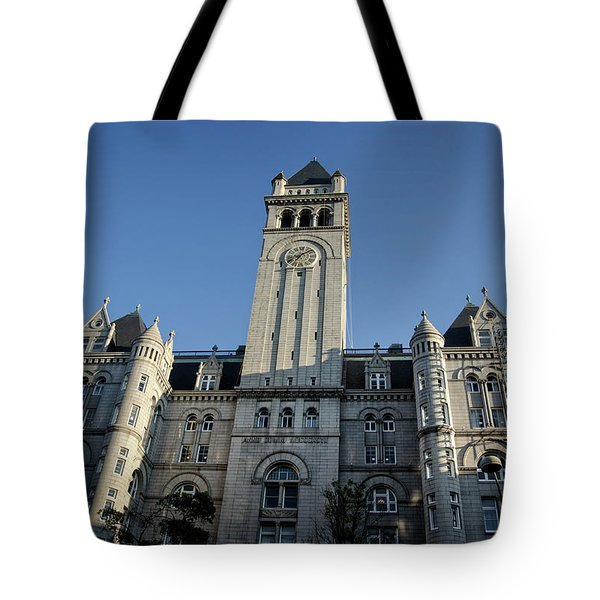 Looking Up At The Trump Hotel Tote Bag by Greg Mimbs