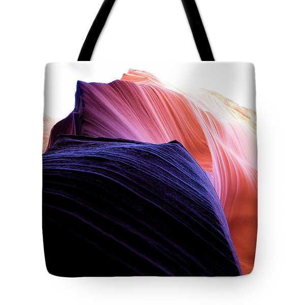 Tote Bag featuring the photograph Looking Up - Dark To Light by Stephen Holst