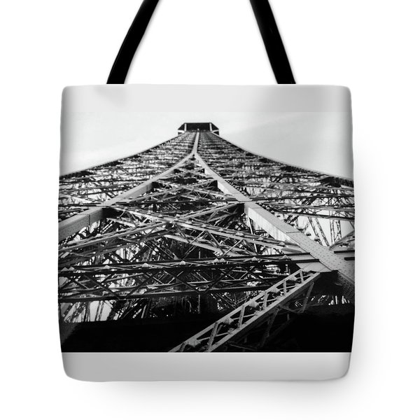 Looking Up From The Eiffel Tower Tote Bag