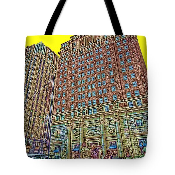 Looking Up In Love Park Tote Bag