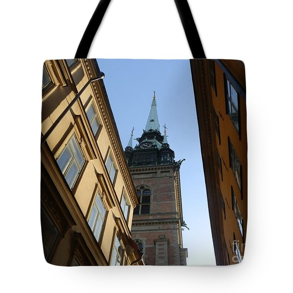 Looking Up From A Stockholm Street Tote Bag