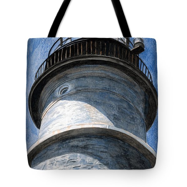 Looking Up Portland Head Light Tote Bag