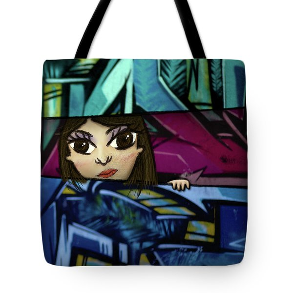Tote Bag featuring the drawing Lookout by Geoffrey C Lewis