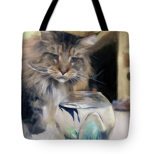 Look's Like Dinner's Just About Ready. Tote Bag by James Steele