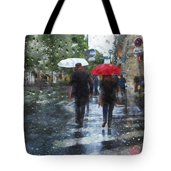 Looks Like Rain Tote Bag by John Rivera