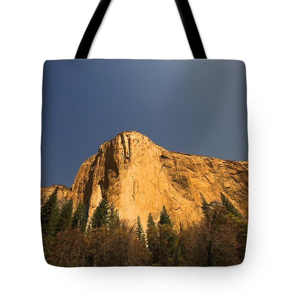 Tote Bag featuring the photograph Looming El Capitan  by Kim Wilson