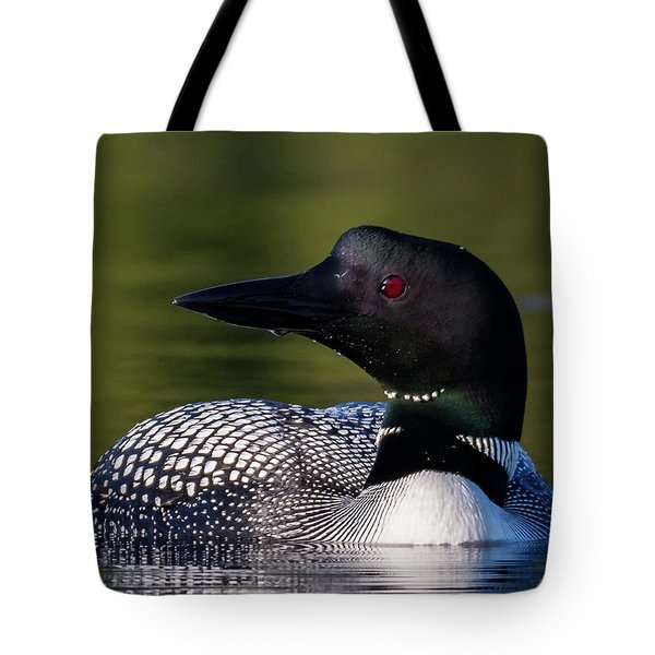 Tote Bag featuring the photograph Loon Close Up by Darryl Hendricks