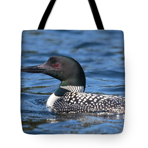 Tote Bag featuring the photograph Loon Close Up by Paul Schultz