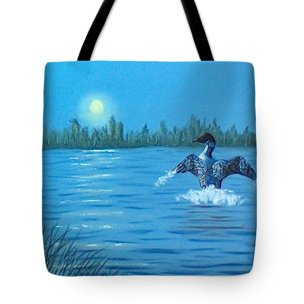Loon Dance Tote Bag