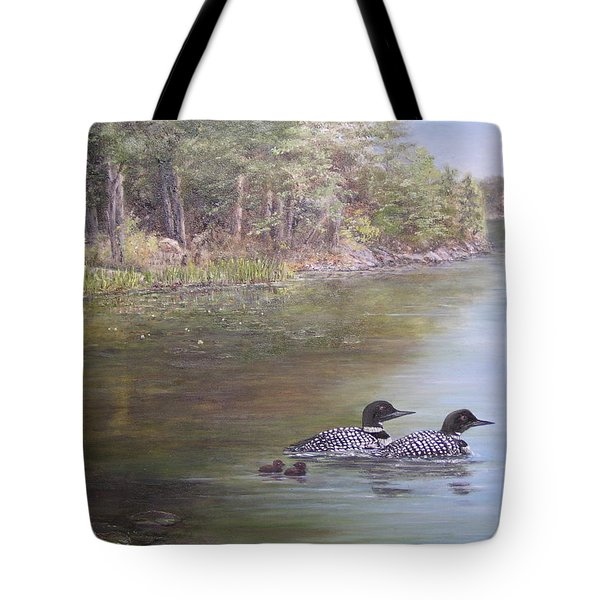 Loon Family 1 Tote Bag