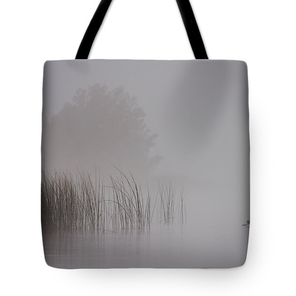 Loon In Morning Fog Tote Bag