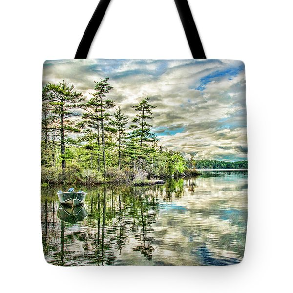 Loon Island Tote Bag by Daniel Hebard