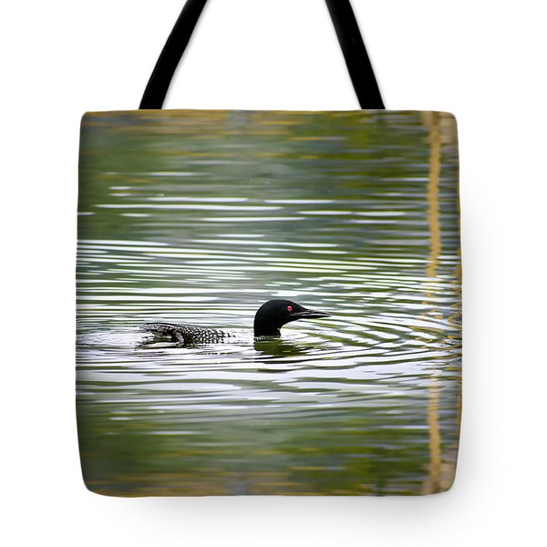 Loon On The Lake Tote Bag