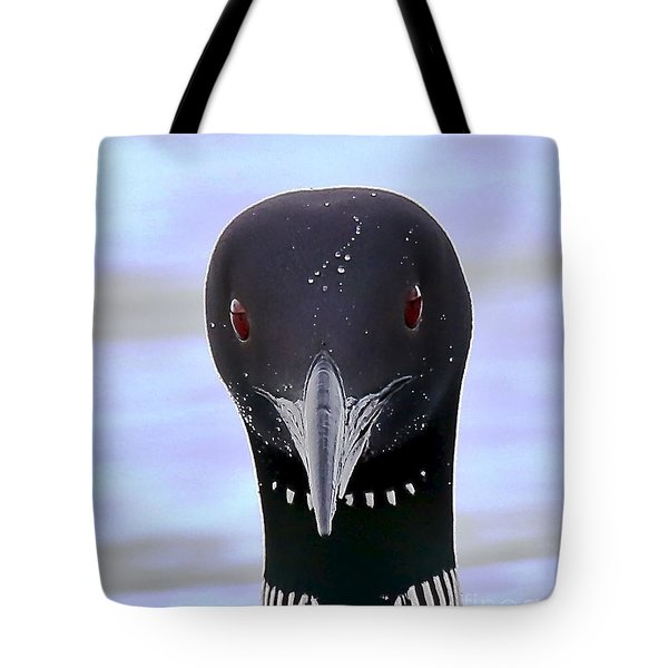 Loon Portrait Tote Bag by Peter Gray