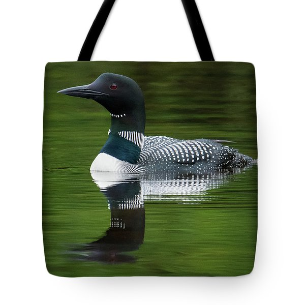 Loon Reflections On The Lake Tote Bag