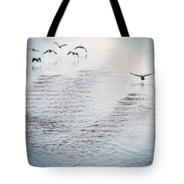 Tote Bag featuring the photograph Looner Liftoff by Kendall McKernon