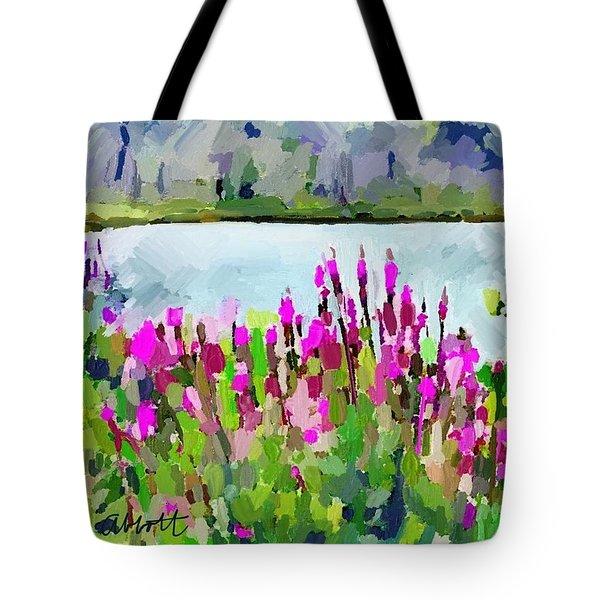 Loosestrife Blooming At Sleepy Hollow Pond Tote Bag