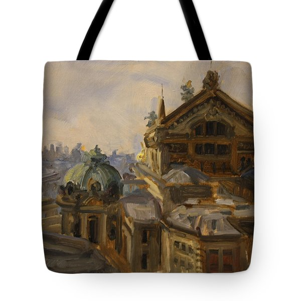 L'opera, Paris, France Tote Bag by Nora Sallows
