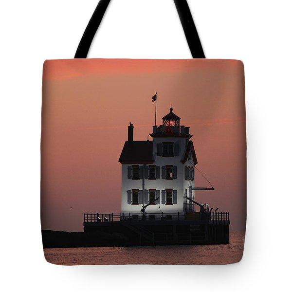 Lorain Lighthouse 1 Tote Bag