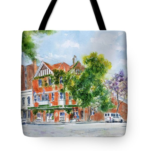 Tote Bag featuring the painting Lord Dudley Hotel by Debbie Lewis