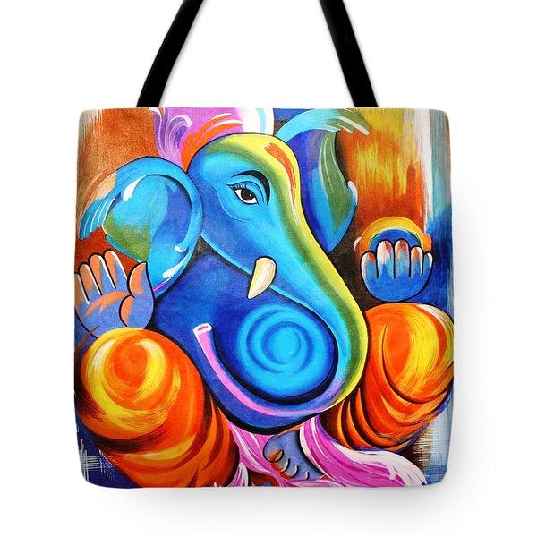 Lord Ganesh  Tote Bag by Rupa Prakash