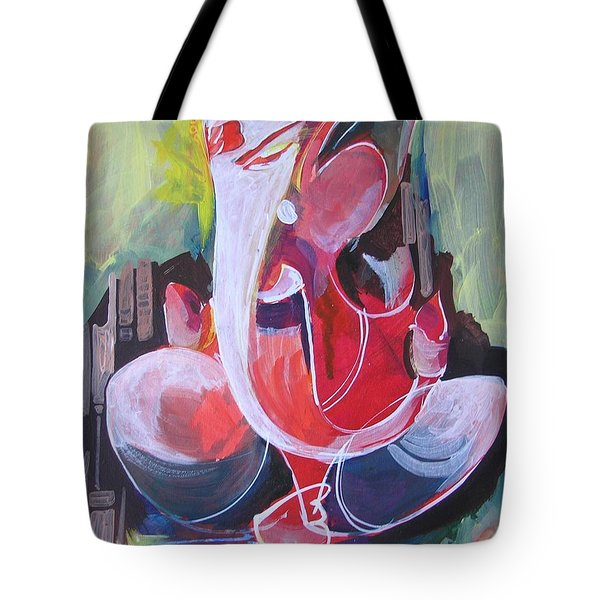 Lord Ganesha- Unique Abstraction Tote Bag by Chintaman Rudra