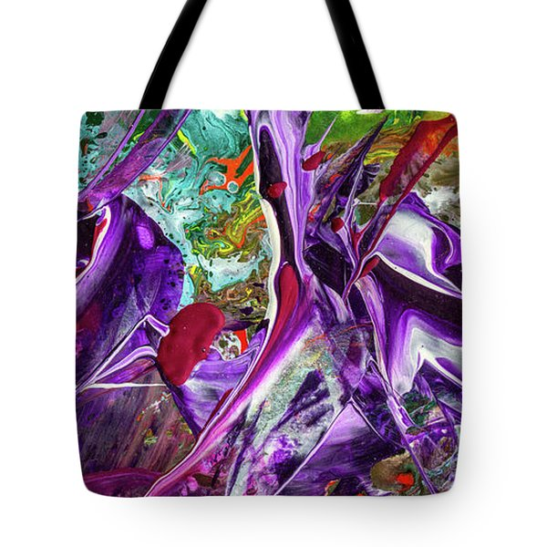Lord Of The Rings Art - Colorful Modern Abstract Painting Tote Bag by Modern Art Prints