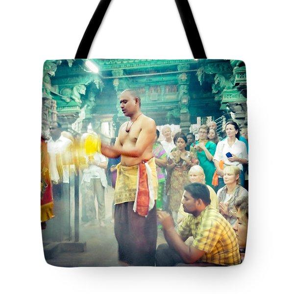 Lord Shiva Meenakshi Temple Madurai India Tote Bag