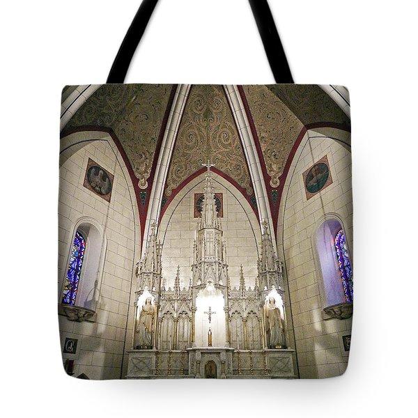 Tote Bag featuring the photograph Loretto Chapel Santa Fe by Kurt Van Wagner