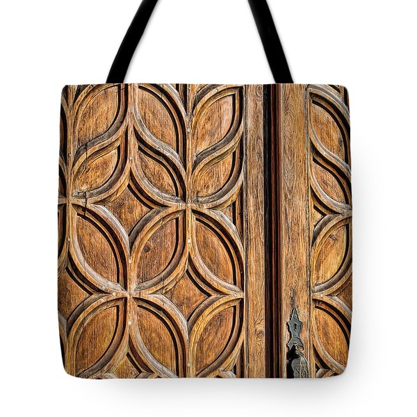 Tote Bag featuring the photograph Loretto Doorway by Gina Savage