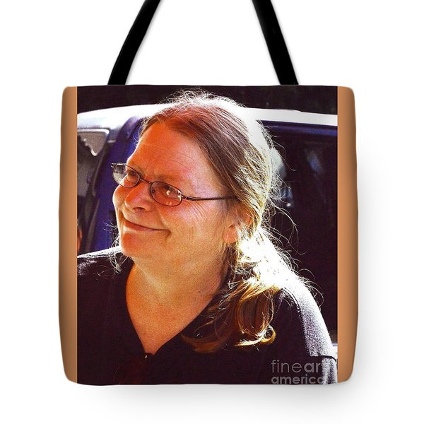 Tote Bag featuring the photograph Laurie by Jesse Ciazza